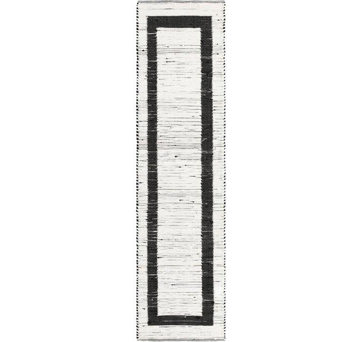 80cm x 305cm Chindi Jute Runner Rug