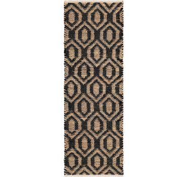 Image of  Black Chindi Jute Runner Rug