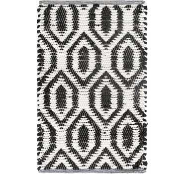 Image of  Black and White Chindi Jute Rug