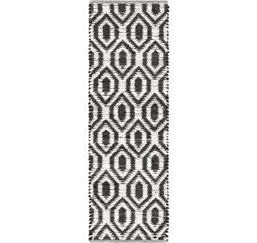 Image of  Black and White Chindi Jute Runner Rug