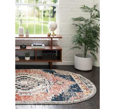 Image of  Rust Red Tucson Oval Rug