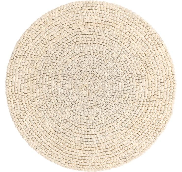 152cm x 152cm Felt Ball Round Rug