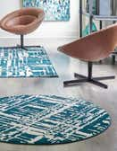 4' x 4' Vince Camuto Round Rug thumbnail
