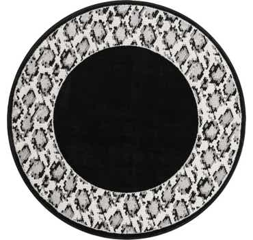 Image of  Black Vince Camuto Round Rug