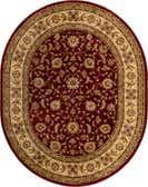 7' 10 x 10' Classic Agra Oval Rug thumbnail