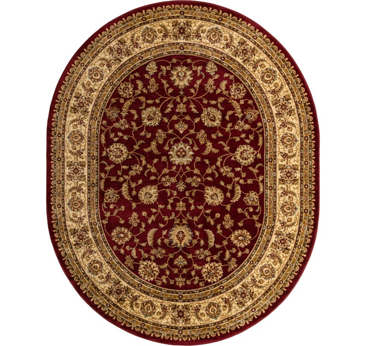 Image of 240cm x 305cm Classic Agra Oval Rug