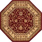 5' 3 x 5' 3 Classic Agra Octagon Rug thumbnail