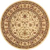5' 3 x 5' 3 Classic Agra Round Rug thumbnail