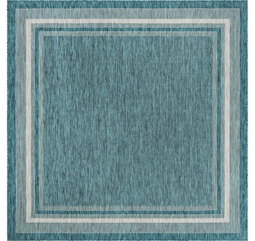 7' 10 x 7' 10 Outdoor Border Square Rug main image
