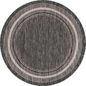 122cm x 122cm Outdoor Border Round Rug thumbnail