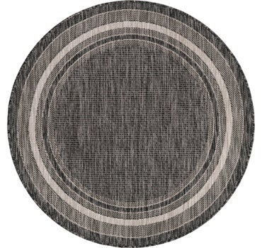 4' x 4' Outdoor Border Round Rug main image