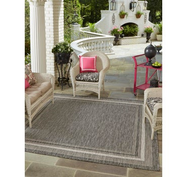 5' x 5' Outdoor Border Square Rug