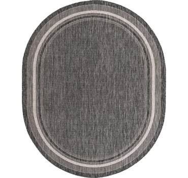 7' 10 x 10' Outdoor Border Oval Rug main image