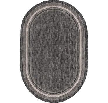 5' x 8' Outdoor Border Oval Rug main image