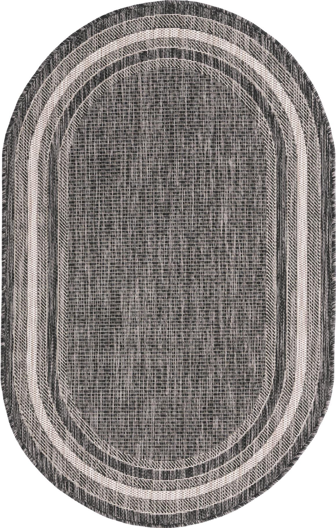 3' 3 x 5' 3 Outdoor Border Oval Rug main image
