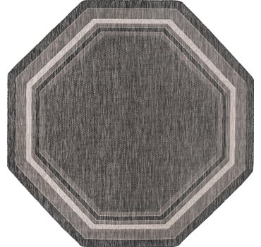 8' x 8' Outdoor Border Octagon Rug main image
