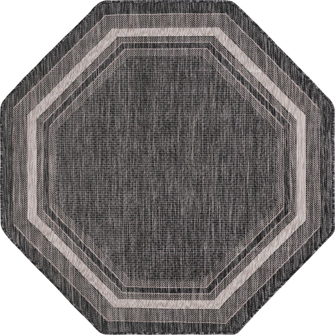 5' x 5' Outdoor Border Octagon Rug main image