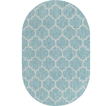 5' x 8' Outdoor Trellis Oval Rug main image