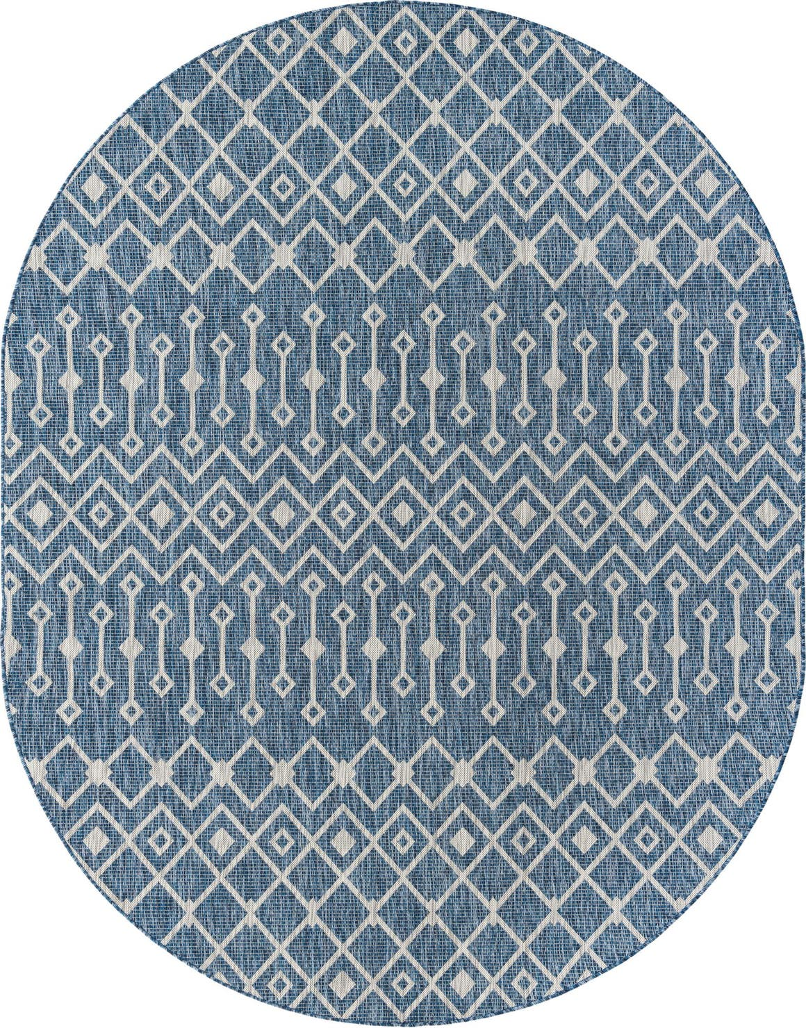 7' 10 x 10' Outdoor Trellis Oval Rug main image