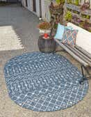 3' 3 x 5' 3 Outdoor Trellis Oval Rug thumbnail