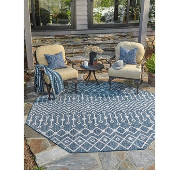 8' x 8' Outdoor Trellis Octagon Rug main image