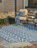 5' x 5' Outdoor Trellis Octagon Rug thumbnail