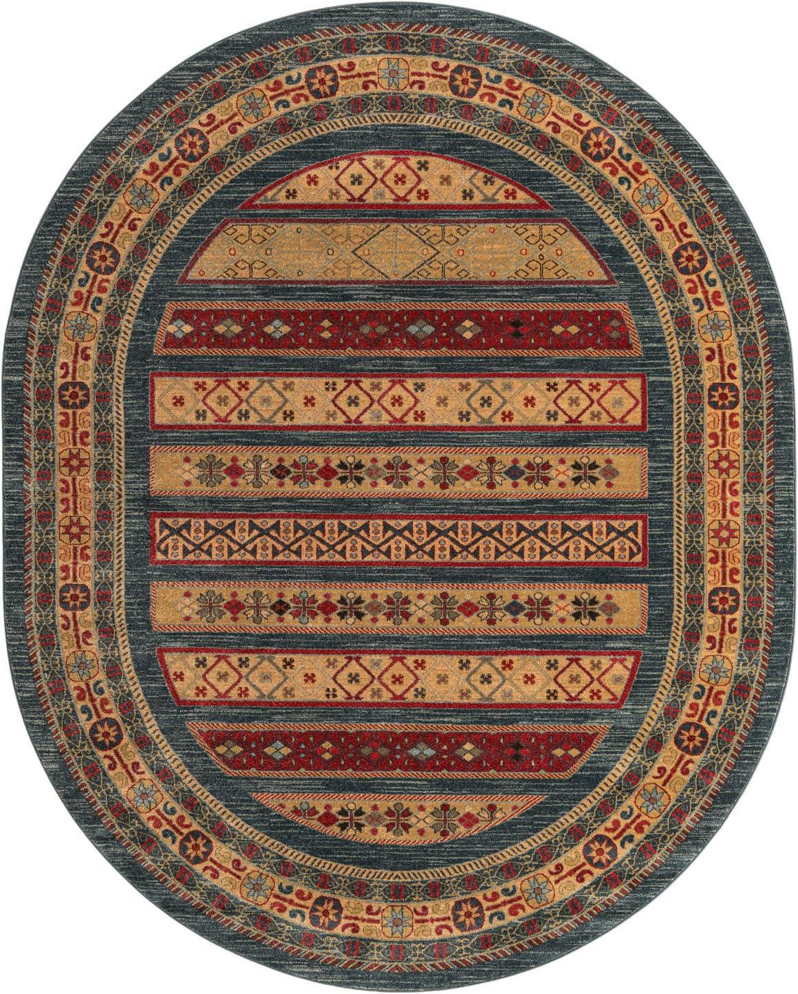 8' x 10' Kashkuli Gabbeh Oval Rug main image