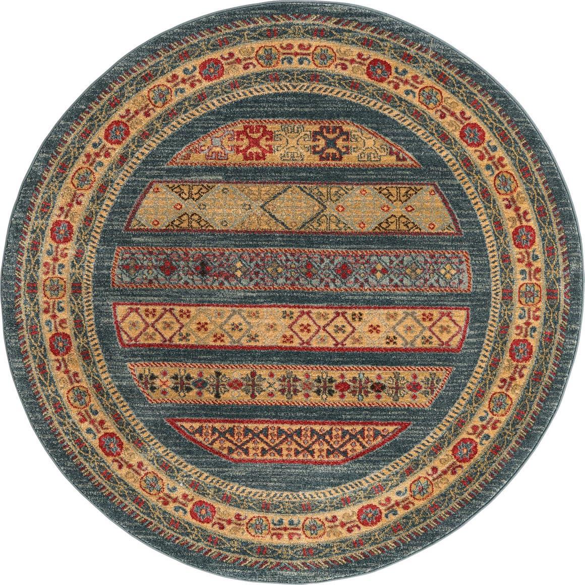 5' x 5' Kashkuli Gabbeh Round Rug main image