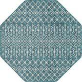5' 3 x 5' 3 Outdoor Trellis Octagon Rug thumbnail