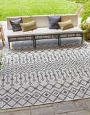 10' 8 x 10' 8 Outdoor Trellis Square Rug thumbnail