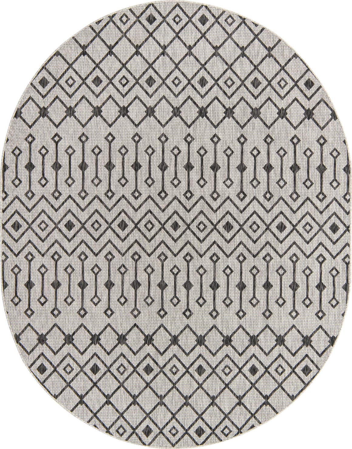 7' 10 x 10' Outdoor Trellis Oval Rug main image