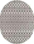 7' 10 x 10' Outdoor Trellis Oval Rug thumbnail