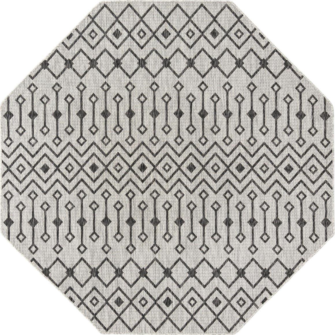 7' 10 x 7' 10 Outdoor Trellis Octagon Rug main image