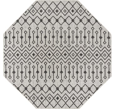 7' 10 x 7' 10 Outdoor Lattice Octagon Rug main image