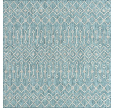 7' 10 x 7' 10 Outdoor Trellis Square Rug main image