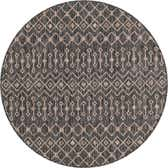 5' 3 x 5' 3 Outdoor Lattice Round Rug thumbnail