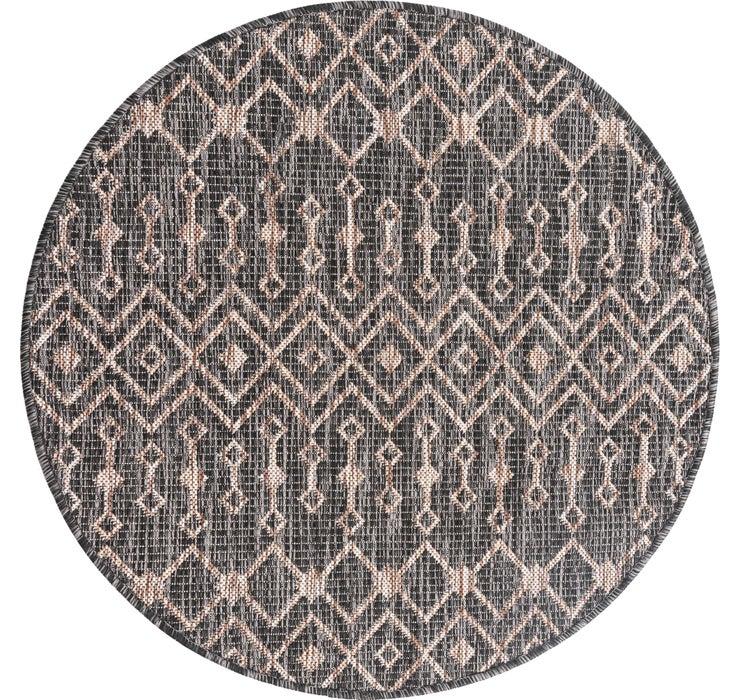 100cm x 100cm Outdoor Trellis Round Rug