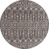 3' 3 x 3' 3 Outdoor Lattice Round Rug thumbnail