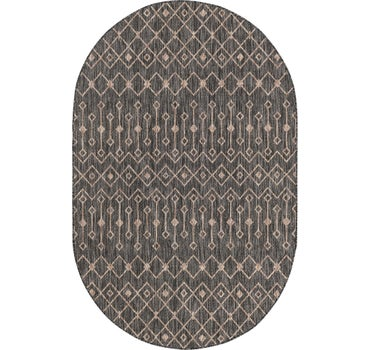 5' 3 x 8' Outdoor Trellis Oval Rug main image