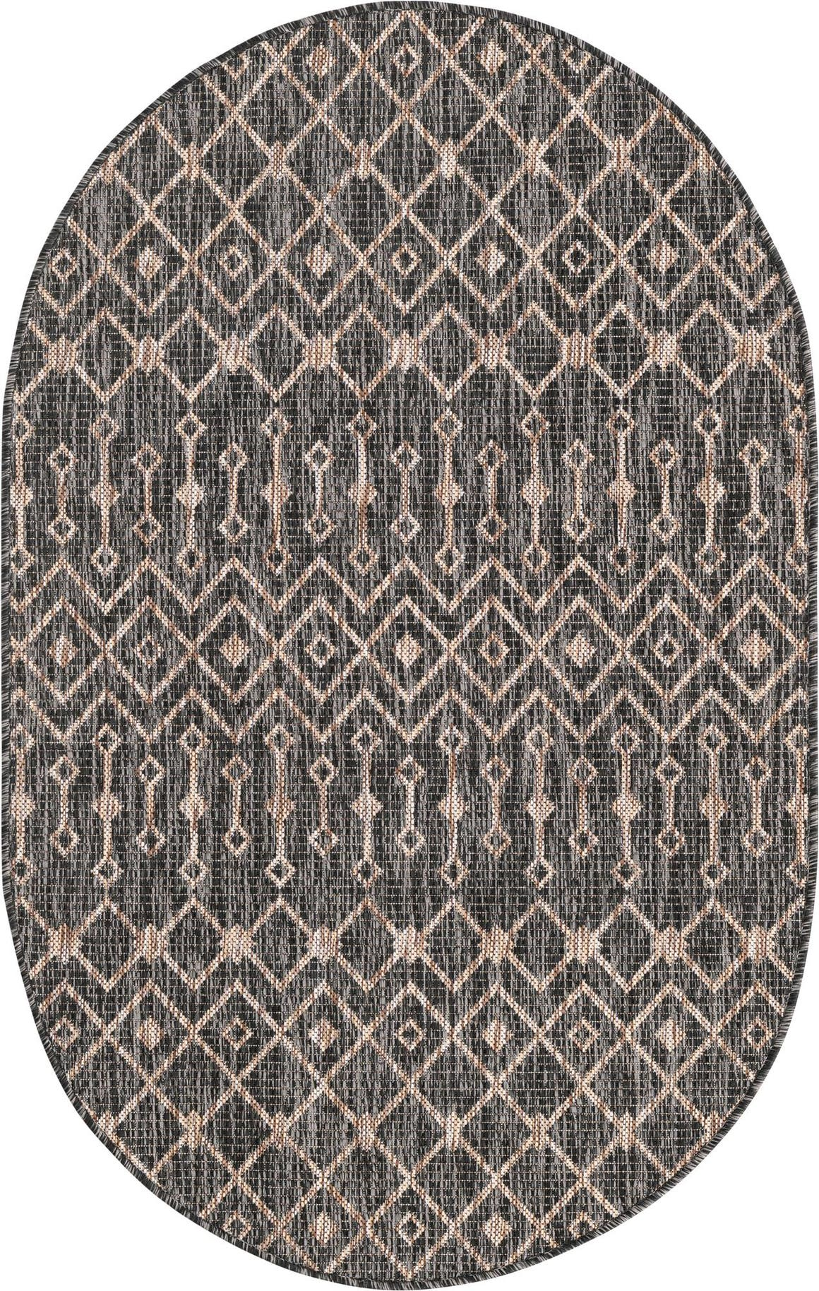 3' 3 x 5' 3 Outdoor Trellis Oval Rug main image