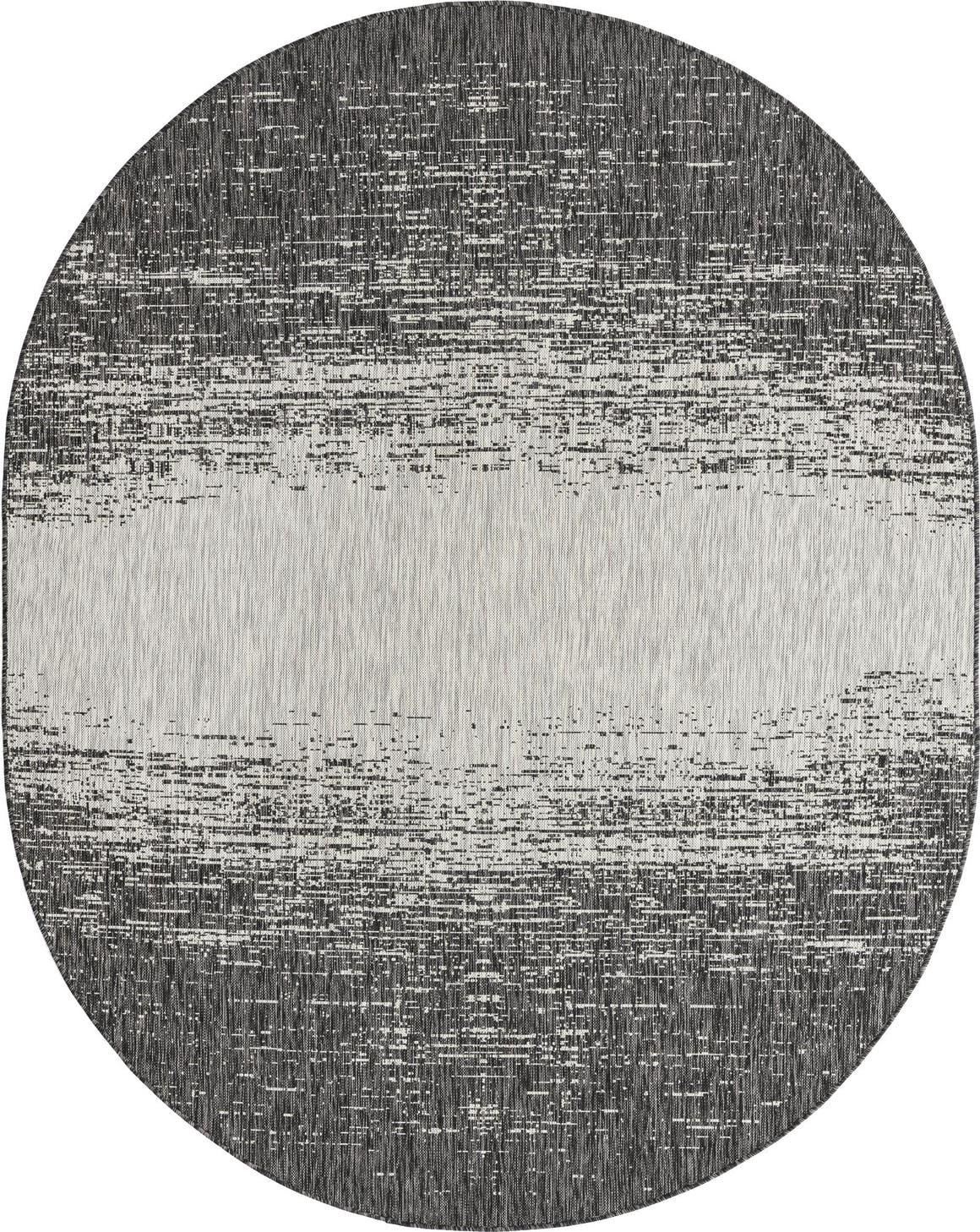 7' 10 x 10' Outdoor Modern Oval Rug main image
