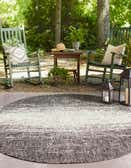5' 3 x 8' Outdoor Modern Oval Rug thumbnail