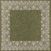 7' 10 x 7' 10 Outdoor Border Square Rug thumbnail