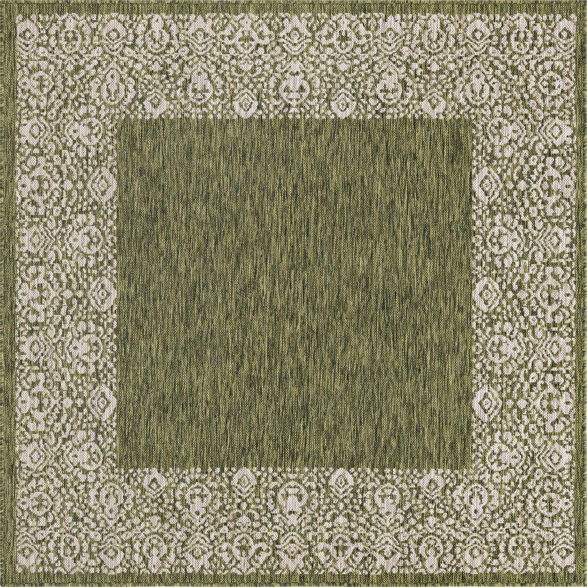 5' 3 x 5' 3 Outdoor Border Square Rug main image