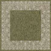 5' 3 x 5' 3 Outdoor Border Square Rug thumbnail