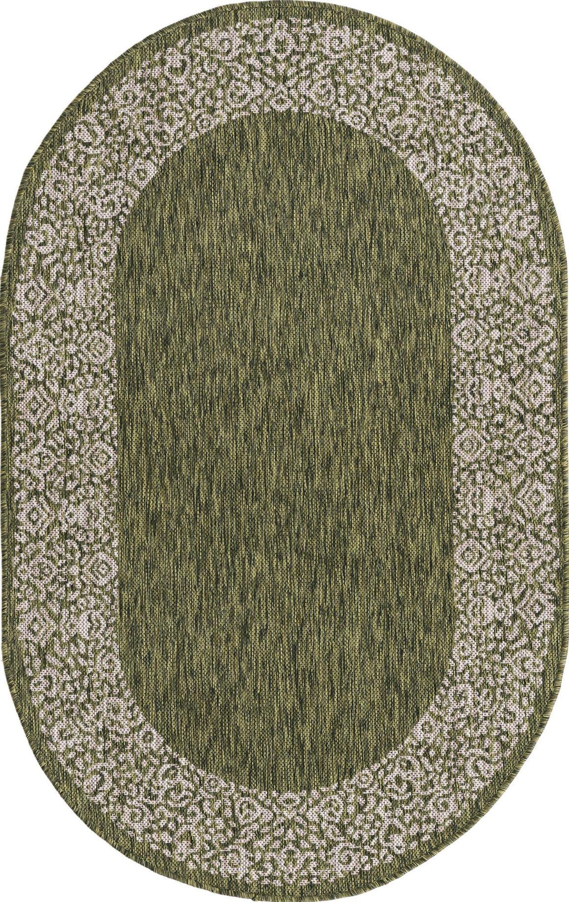 3' 3 x 5' 3 Outdoor Border Oval Rug main image
