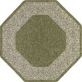 7' 10 x 7' 10 Outdoor Border Octagon Rug thumbnail