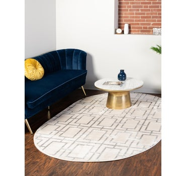4' x 6'  Marilyn Monroe™ Glam Deco Oval Rug main image