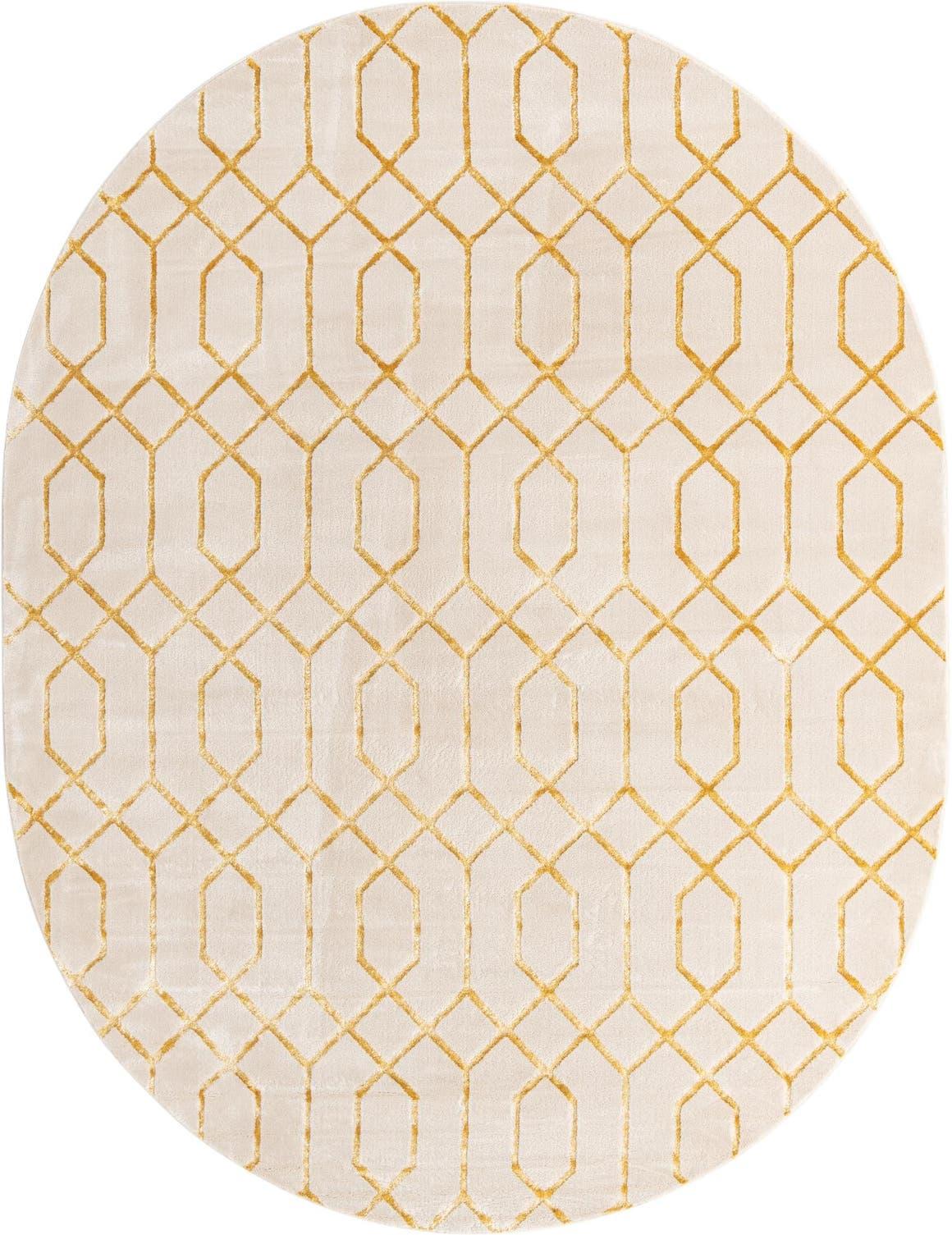 7' 10 x 10'  Marilyn Monroe™ Glam Trellis Oval Rug main image