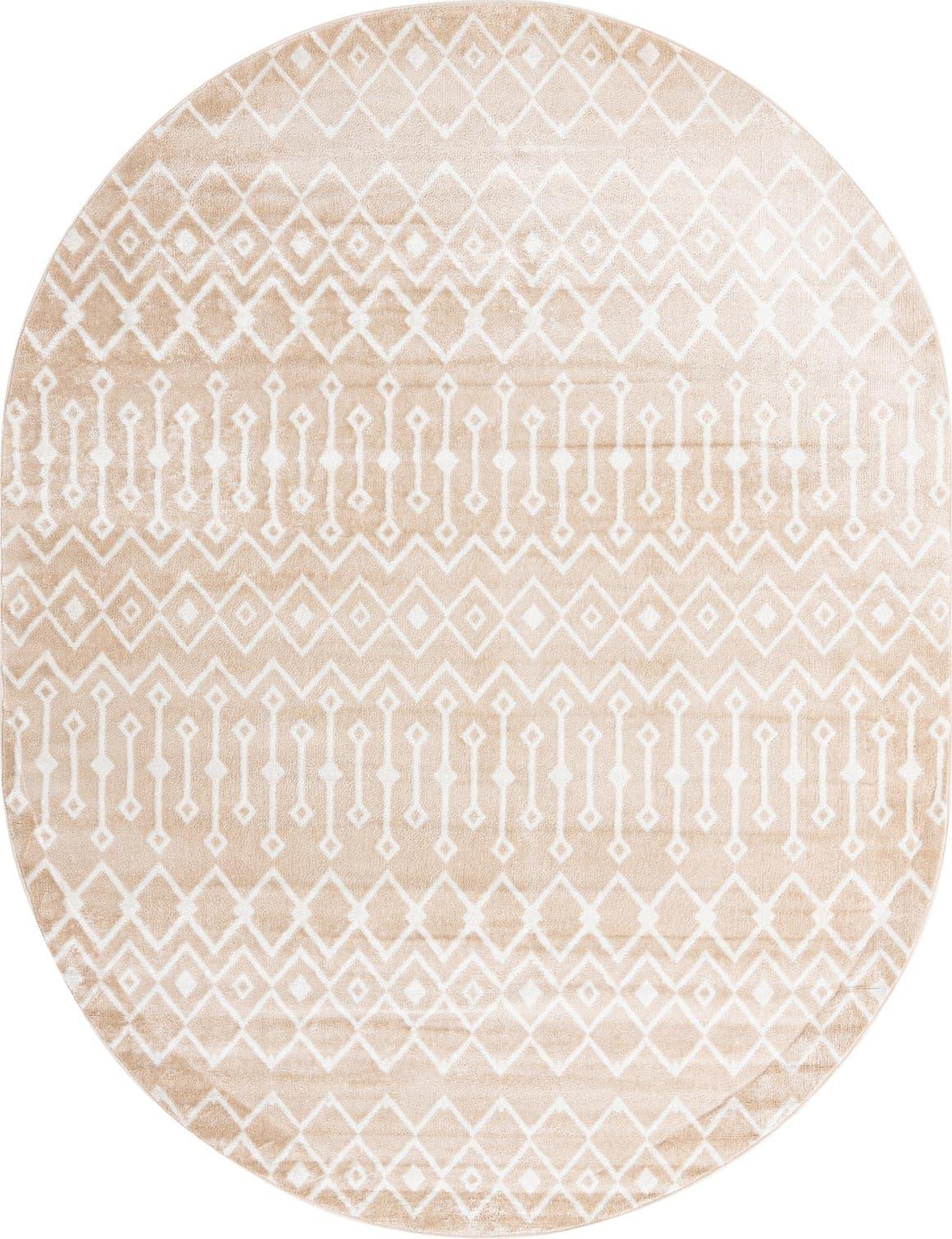 8' x 10' Bohemian Trellis Oval Rug main image